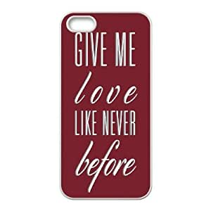 Give me love Discount Personalized Cell Phone Case for iPhone 5,5S, Give me love iPhone 5,5S Cover