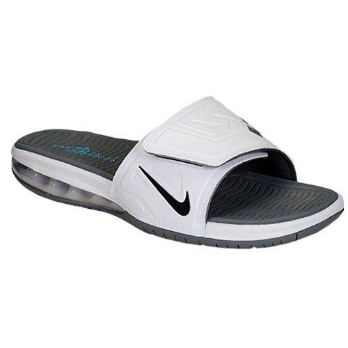a9846c1f2ec69 Galleon - Nike Air Lebron Slide 3 Elite Men Slider White Cool Grey Vivid  Blue Black 631260-104 (Size  9)