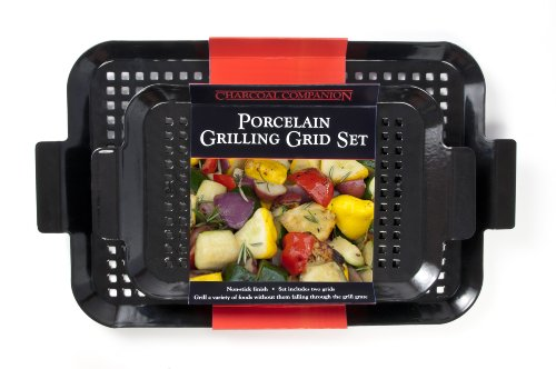Charcoal Companion CC3110 2-Piece Small/Medium Porcelain Coated Grilling Grid Set