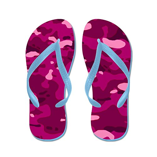 CafePress Military Camouflage: Pink - Flip Flops, Funny Thong Sandals, Beach Sandals Caribbean Blue