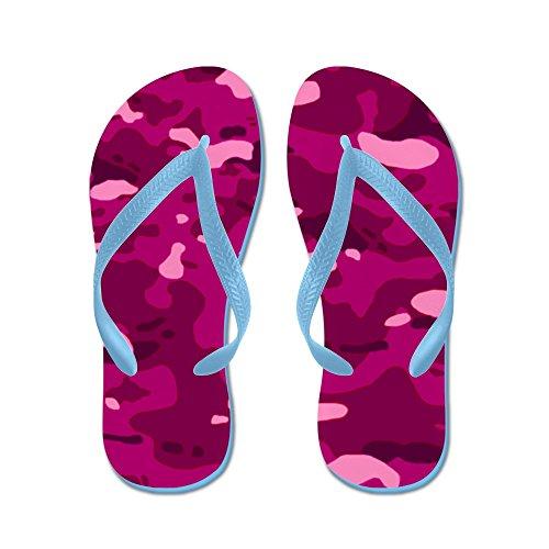 Cafepress Militaire Camouflage: Roze - Flip Flops, Grappige String Sandalen, Strand Sandalen Caribbean Blue