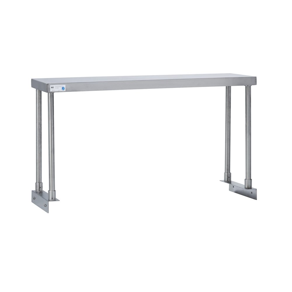 Fenix Sol Commercial Kitchen Stainless Steel Single Overshelf for Work Tables, 18'' W x 96''L x 19''H, NSF Certified