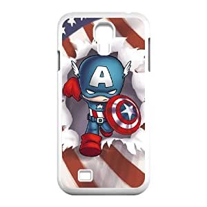 C-EUR Customized Captain America Pattern Protective Case Cover for Samsung Galaxy S4 I9500