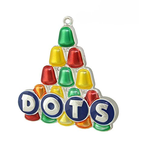 Northlight Silver Plated Dots Candy Logo Multicolored Christmas Tree Ornament with European Crystals, 3