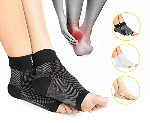 a1ef1273bd Modetro Sports Plantar Fasciitis Foot Care Compression Socks Sleeve with  Arch & Ankle Support: Amazon.co.uk: Sports & Outdoors