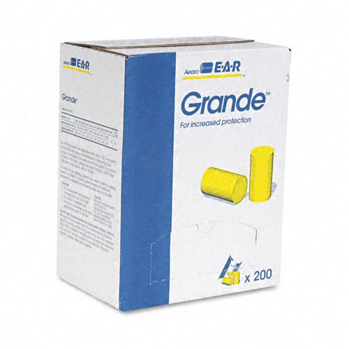 Aearo EAR : E-A-R Classic Grande Ear Plugs in Pillow Paks, PVC Foam, Yellow, 200 Pairs/Box -:- Sold as 2 Packs of - 200 - / - Total of 400 Each by Aearo   B0030BYHQO