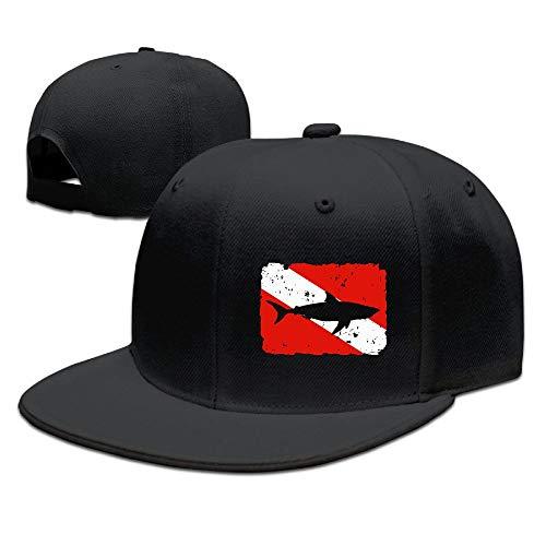 (Vintage Shark Scuba Dive Flag Fashion Adjustable Baseball Cap Snapback Trucker Cap for Men/Women)
