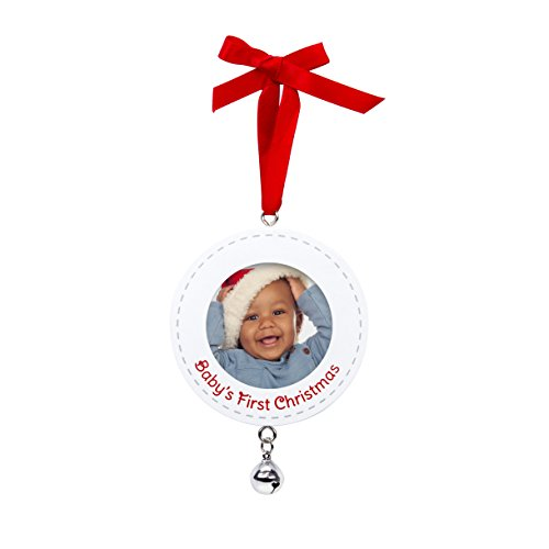 Pearhead Baby's First Christmas Holiday Keepsake Ornament, White