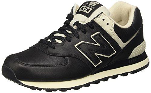 New Balance Herren 574 Laufschuhe, Schwarz (Black 001Black 001), 45 EU