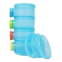 Basilic Baby Formula Dispenser / Milk Powder Container / Storage / Pot - 4 Compartment (blue)
