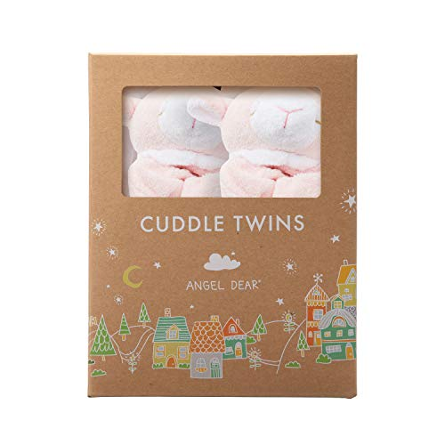 Angel Dear Cuddle Twin Set, Pink Lamb