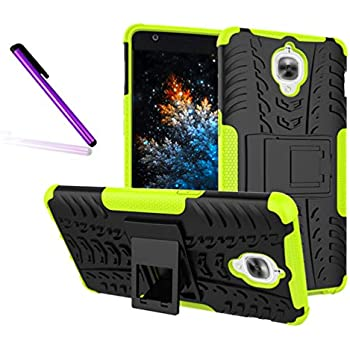 OnePlus 3T / OnePlus 3 Case, Tyre Pattern Design Heavy Duty Tough Armor Extreme Protection Case with Kickstand Shock Absorbing Detachable 2 in 1 Case Cover ...
