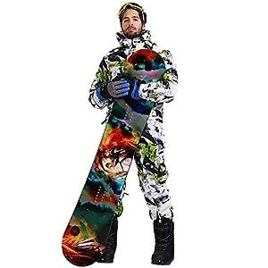 BOLIXIN Combinaison de skiVêtements de Ski pour Hommes Hiver Imperméable Épaisse Chaud Veste De Snowboard One Piece Ski One Piece Combinaison De Snowboard Sport