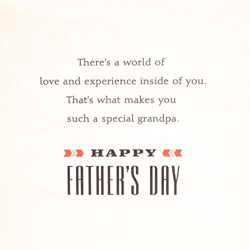 Hallmark Father's Day Greeting Card for Grandfather (Disney Mickey Mouse, World of Love and Experience) Photo #3