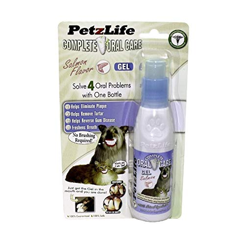 PetzLife 891016 Complete Oral Care Gel Salmon Blister-Package for Pets, 4-Ounce