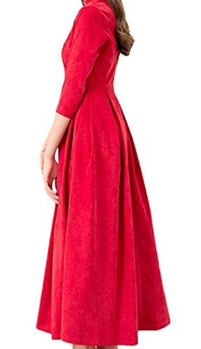 Sexy Rosso Clubwear Coolred donne Cocktail Colore Puro Grande Vestito Moda Orlo vn1pOYqE