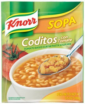 Knorr Tomato Based Elbow Pasta Soup Mix, 3.5-ounce Packages (Pack of 6)