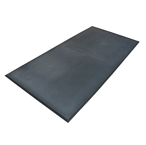 Humane SHOK-LOK 4' x 8' x 3/4'' Portable Rubber Deadlift Mats - SET OF 6 (Glacier Color Fleck) - Anti-Shock Deadlifting Mats - Noise and Vibration Reducing Cardio Equipment Mats