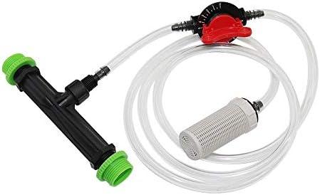 """Cleaning Supplies 1/2"""", 3/4"""" Venturi Fertilizer Injector Kits Landwirtschaft Werkzeuge Gartengewächshaus Bewässerungssystem Fertilizer Gerät 1 Set (Color : White with Black)"""