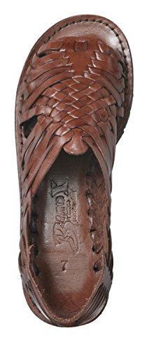 Mærke X Huaraches Pachuco Læder Sandal Brun u6D36hIvp