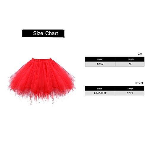 c6599906b812 Acecharming Girl's Ballet Tutu Skirts Tulle Bubble Classic Prom Ball ...