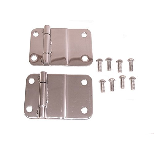 Lower Tailgate Hinge - Rugged Ridge 11114.01 Stainless Lower Tailgate Hinge - Pair