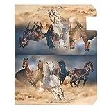 Vdsrup Running Horse Herd Mailbox Cover Desert Sand