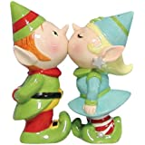 Westland Giftware Mwah Magnetic Elves Salt and Pepper Shaker Set, 3-3/4-Inch