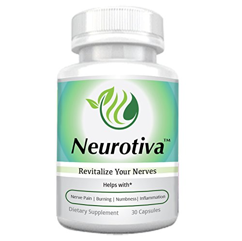 NeuroTiva - All Natural Nutritional Supplement for Neuropathy - Nerve Pain Relief with Alpha Lipoic Acid, Vitamin D, Vitamin B, Turmeric May Help with Burning/Tingling/Nerve Pain, Diabetic Neuropathy