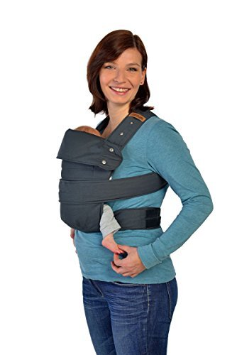 Amazon Com Marsupi Compact Front And Hip Baby Carrier In Charcoal