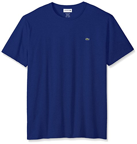 Lacoste Men's Short Sleeve Crew Neck Pima Cotton Jersey T-Shirt, Ocean, Small