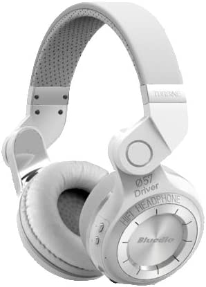 Bluedio T2 Turbine Bluetooth Wireless Stereo Rotary Headphones with Mic, 57mm Drivers, White