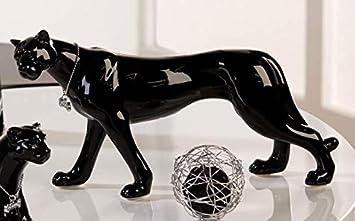 en ligne meilleur site web prix d'usine Statue de panthère noire en céramique pour décoration ou ...
