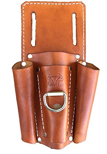 4 Tool Holder Electricians Pouch (Saddle Tan) by AP Saddlery