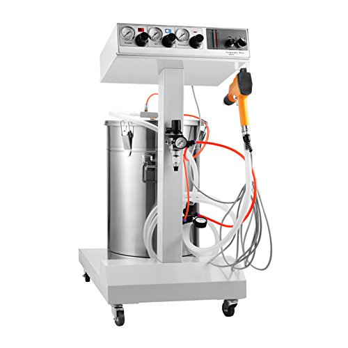 BestEquip Powder Coating Machine WX-101 40W 45L Capacity Electrostatic Powder Coating System with Spraying Gun 550g/min Electrostatic Machine (WX-101 40W 50L Capacity)