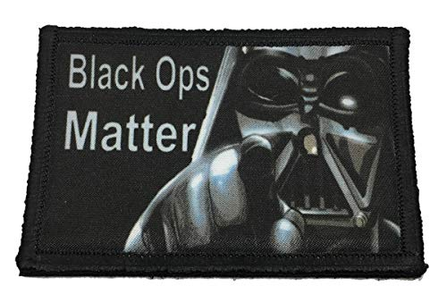 Star Wars Darth Vader Black OPS Matter Morale Tactical Military Patch Made in The USA Perfect for Your Rucksack,Pack Bag, Molle Gear Operator hat or Cap! 2x3