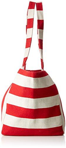 Canvas portés Pcgillian Flame Scarlet Sacs Pieces Shopper Multicolore épaule gZUqPP