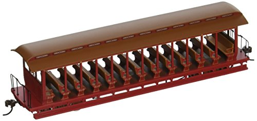 Open Freight Car (Bachmann Trains Jackson Sharp Open - Sided Excursion Car - Red and Brown)