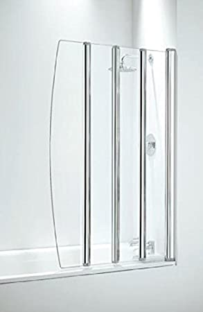Coram Showers SFD4CUC 1400mm X 865mm 4 Panel Folding Bath Screen With Clear  Glass   Chrome Finish: Amazon.co.uk: DIY U0026 Tools