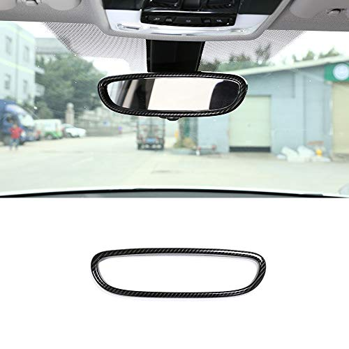 YIWANG Carbon Fiber Car Interior Rearview Mirror Frame Cover Trim For BMW X1 F48 2016-2019 1 Series F20 2011-2015 Auto Accessories