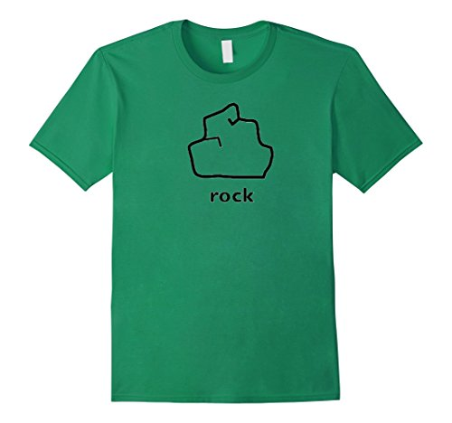 Easy Group Costume Ideas For Halloween - Mens Clever Halloween Costume Idea - Rock Paper Scissors Funny Te Large Kelly Green