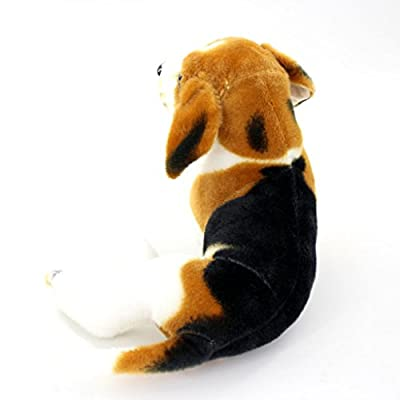 JESONN Realistic Stuffed Animals Beagle Dog Plush Toys (17.7 Inch): Toys & Games