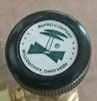 1/4'' Tube Brass Screwed-Bonnet Angle-Pattern Needle Valve Nupro Swagelok B-4JA