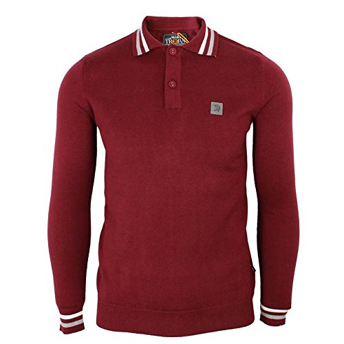 Trojan Records – Polo para hombre color marrón manga larga de ...