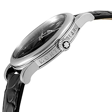Amazon.com: [Mont Blanc] MONTBLANC watch STAR Black Dial 107314 Mens parallel import goods]: Watches
