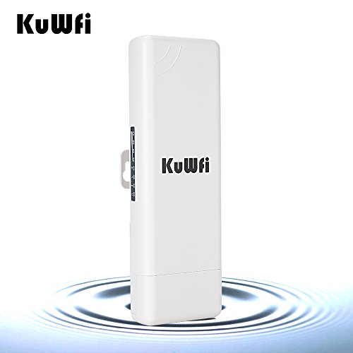 KuWFi 150Mbps WiFi Access Point, Waterproof Outdoor Wireless Bridge Outdoor CPE point to point 2KM Distance Outdoor Wireless Access Point CPE Router with WiFi Long Range Router More WiFi Range 1000mW by KuWFi