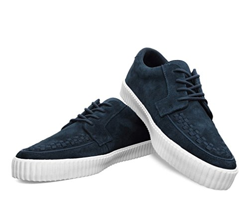 T.U.K. Shoes MenS EZC Navy Suede White Shoe EU40/UKW7