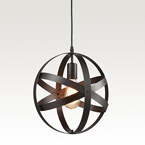 Black Sphere Pendant Light - 8