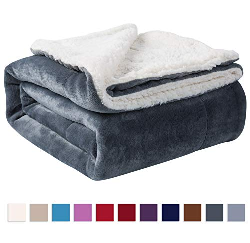 NANPIPER Sherpa Blanket Twin Warm Bed Blanket for Winter Cozy
