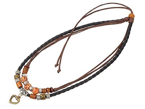 Ancient Tribe Vintage Hemp Black Leather Choker Necklace - http://coolthings.us